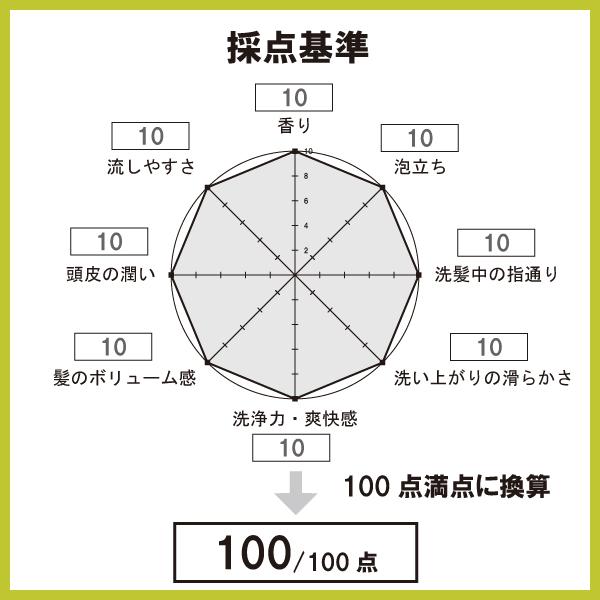 採点基準のレーダーチャート