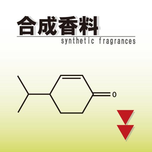 合成香料の文字と合成香料のひとつであるクリプトンの組成式が描かれた画像