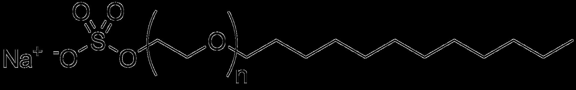 ラウレス硫酸ナトリウムの構造式